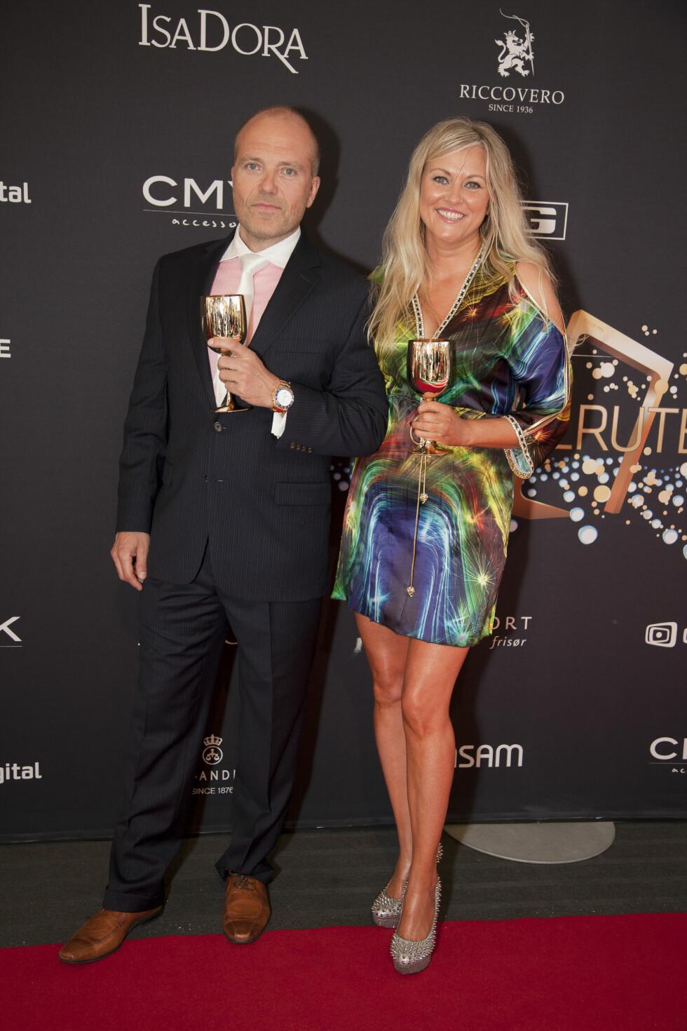 GLITTER OG GLAMOUR: Eli Kari Gjengedal viste fram kjæresten Tom Saxegaard på rød løper under underholdingsfesten Gullruten i Bergen i 2013.