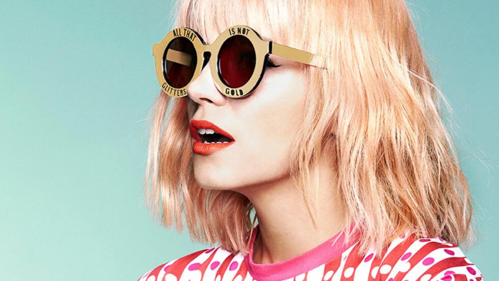 LILY, ELLER?: Det er ikke så lett å se at det faktisk er popsangeren Lily Allen som figurerer i den nyeste kampanjen til House of Holland! Se alle bildene nede i saken.   Foto: Stella Pictures