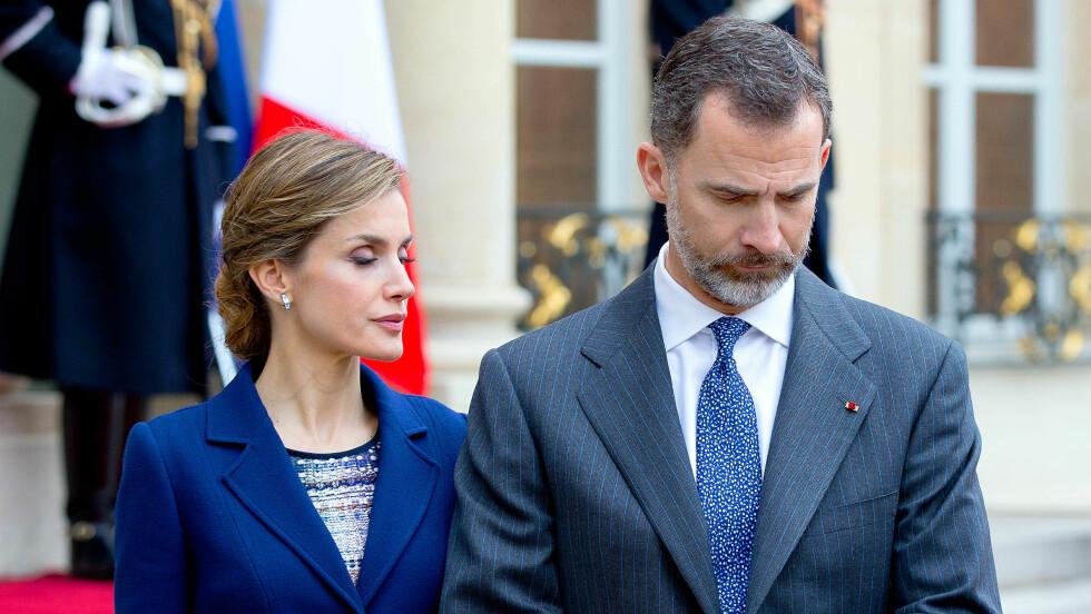 I SORG: Det spanske kongeparet avlyste i går statsbesøket til Frankrike.