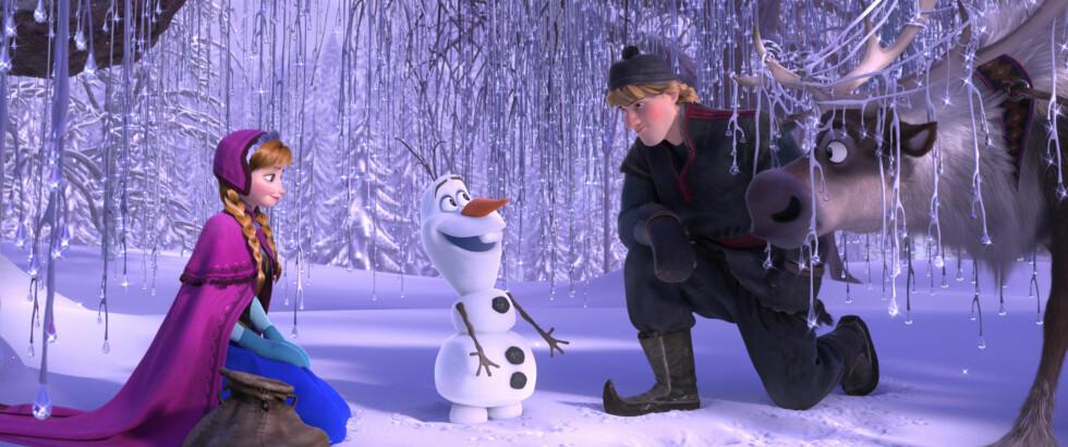 <strong>STOR SUKSESS:</strong> Filmen vant to Oscar-priser under Oscar-utdelingen i 2014, samt to BAFTA-priser og en Golden Globe. «Frozen», eller «Frost», ble også en kassasuksess på kino. Foto: Filmweb.no