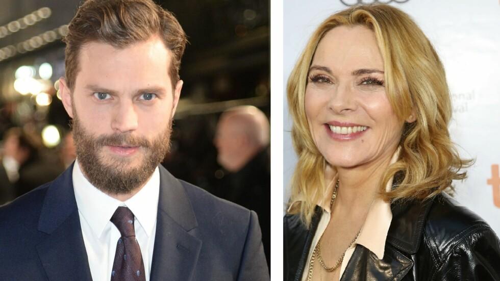 IKKE IMPONERT: Kim Cattrall synes ikke Jamie Dornan er sexy og mandig nok til rollen som kjekkasen Christian Grey. Foto: All Over Press