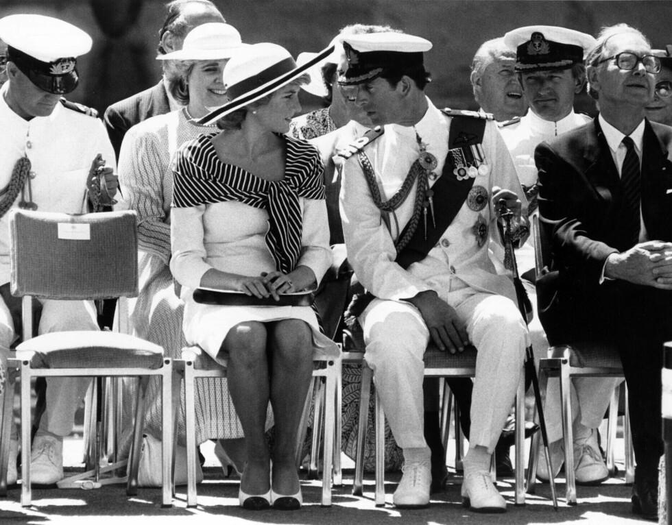 1988: Charles og Camilla under en mottagelse i operaen.  Foto: REX/News Ltd/Newspix/All Over Pr