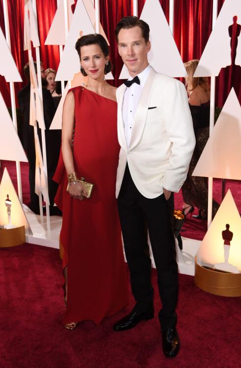 VOKSENDE MAGE: Benedict Cumberbatch og Sophie Turner giftet seg på Valentines day. Og nylig ble det kjent at de også venter barn.  Foto: David Fisher/REX/All Over Press