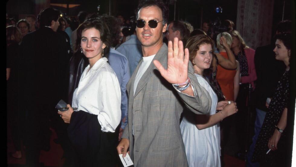 HETT PAR: Courteney Cox ga opp Michael Keaton da han aldri spurte om hennes hånd.   Foto: REX/BEI/All Over Press