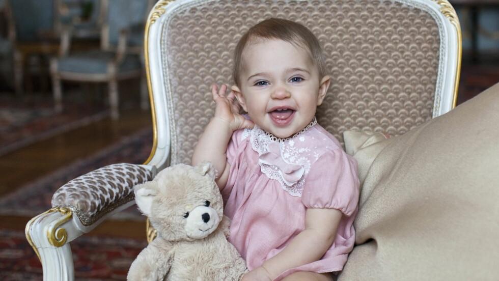 FYLLER ÅR: H.K.H Prinsesse Leonore fyller ett år 20. februar 2015. Foto: Kungahuset