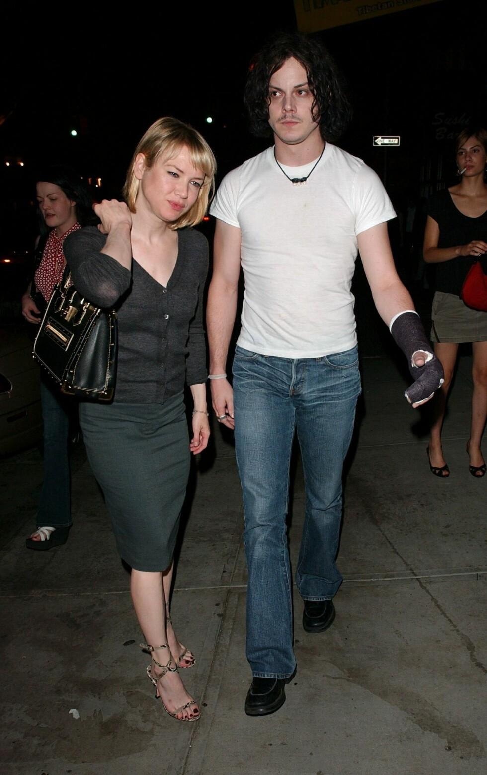 BRUDD ETTER OSCAR: Renee Zellweger og Jack White. Foto: All Over Press