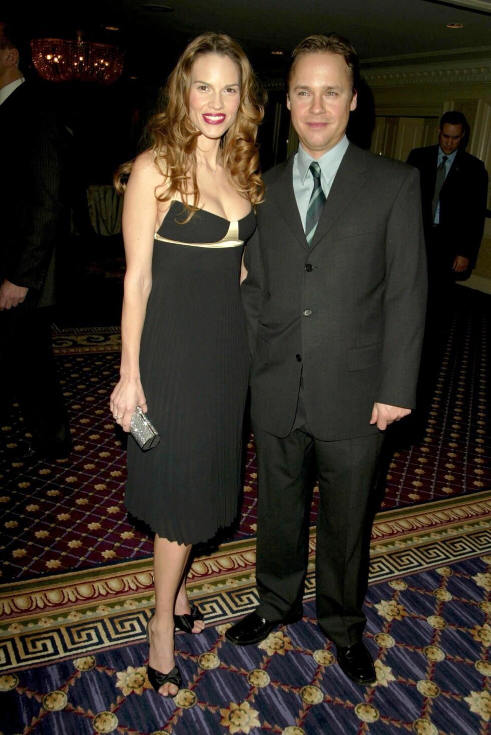 BRUDD ETTER OSCAR: Hilary Swank og Chad Lowe. Foto: All Over Press