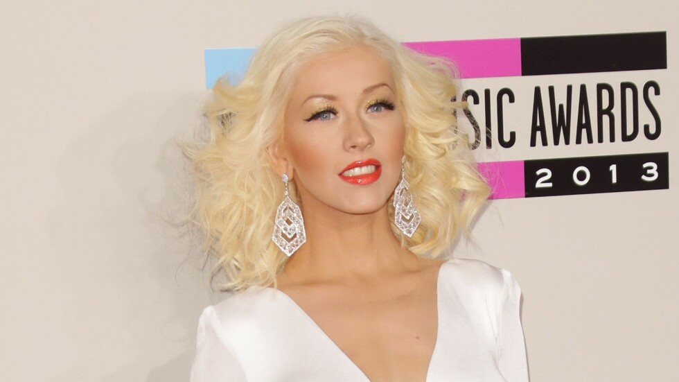 TOBARNSMOR: Artist Christina Aguilera ble mor for andre gang i august i fjor.  Foto: REX/Jim Smeal/BEI/All Over Press