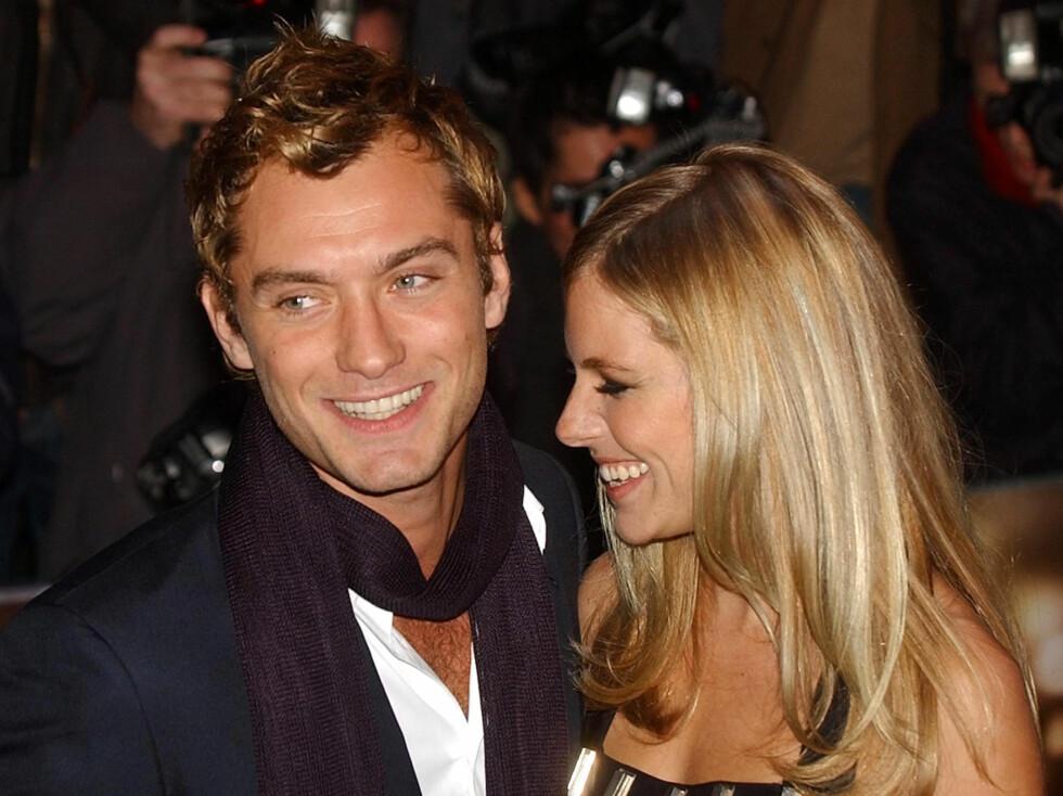 <strong>VANSKEIG KJÆRLIGHET:</strong> Sienna og Jude Law falt hodestups for hverandre, men klarte aldri å få forholdet til å fungrere skikkelig.