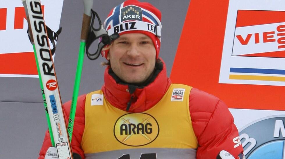 SNART PAPPA IGJEN: Skiløper Øystein «Pølsa» Pettersen avslørte at han blir tobarnsfar til sommeren, da han gjestet P4s Radiofrokost mandag morgen. Foto: IMAGO/ All Over Press
