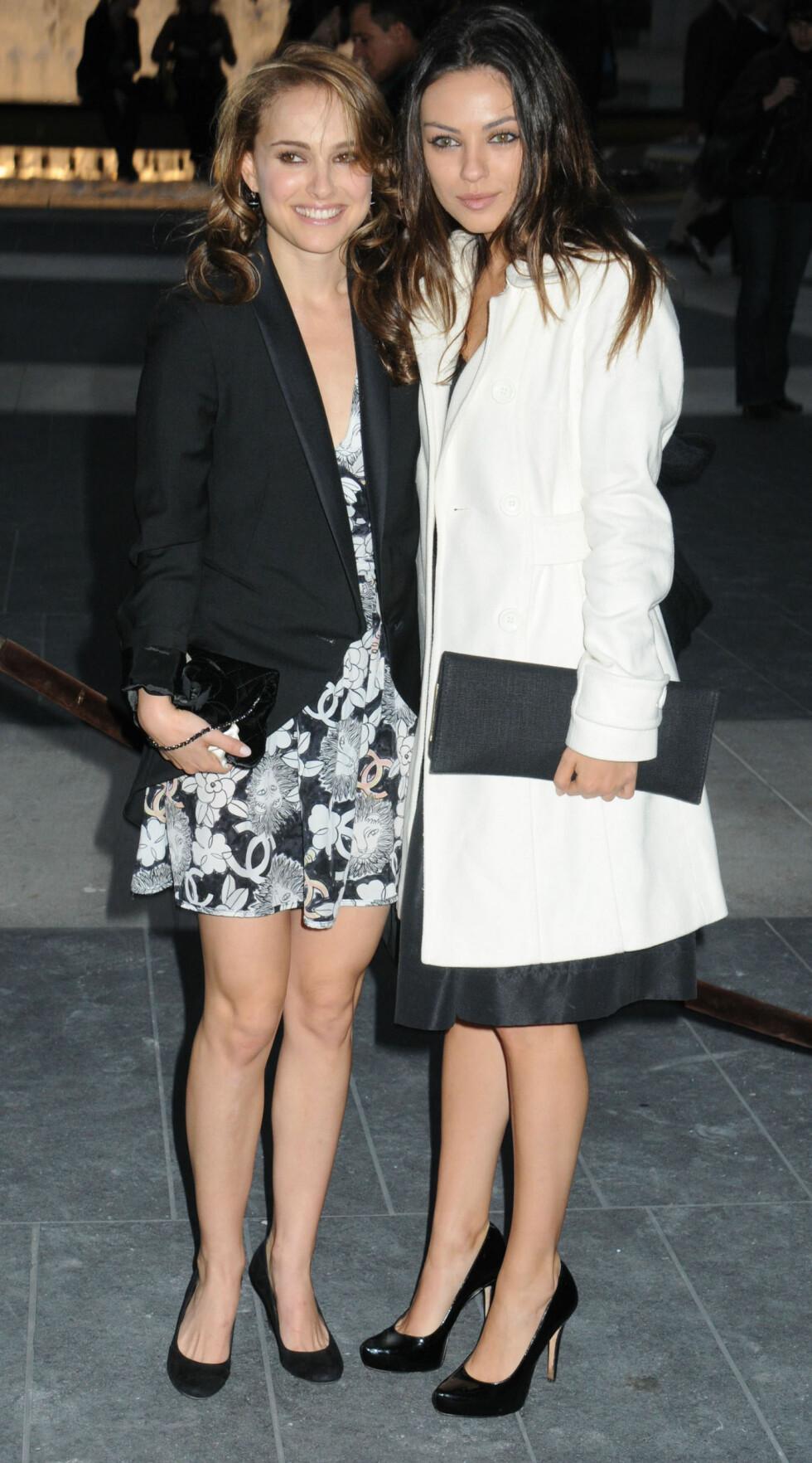 GODE VENNER: Portman og Kunis er gode venner, og spilte sammen i 2010-filmen Black Swan. Foto: All Over Press