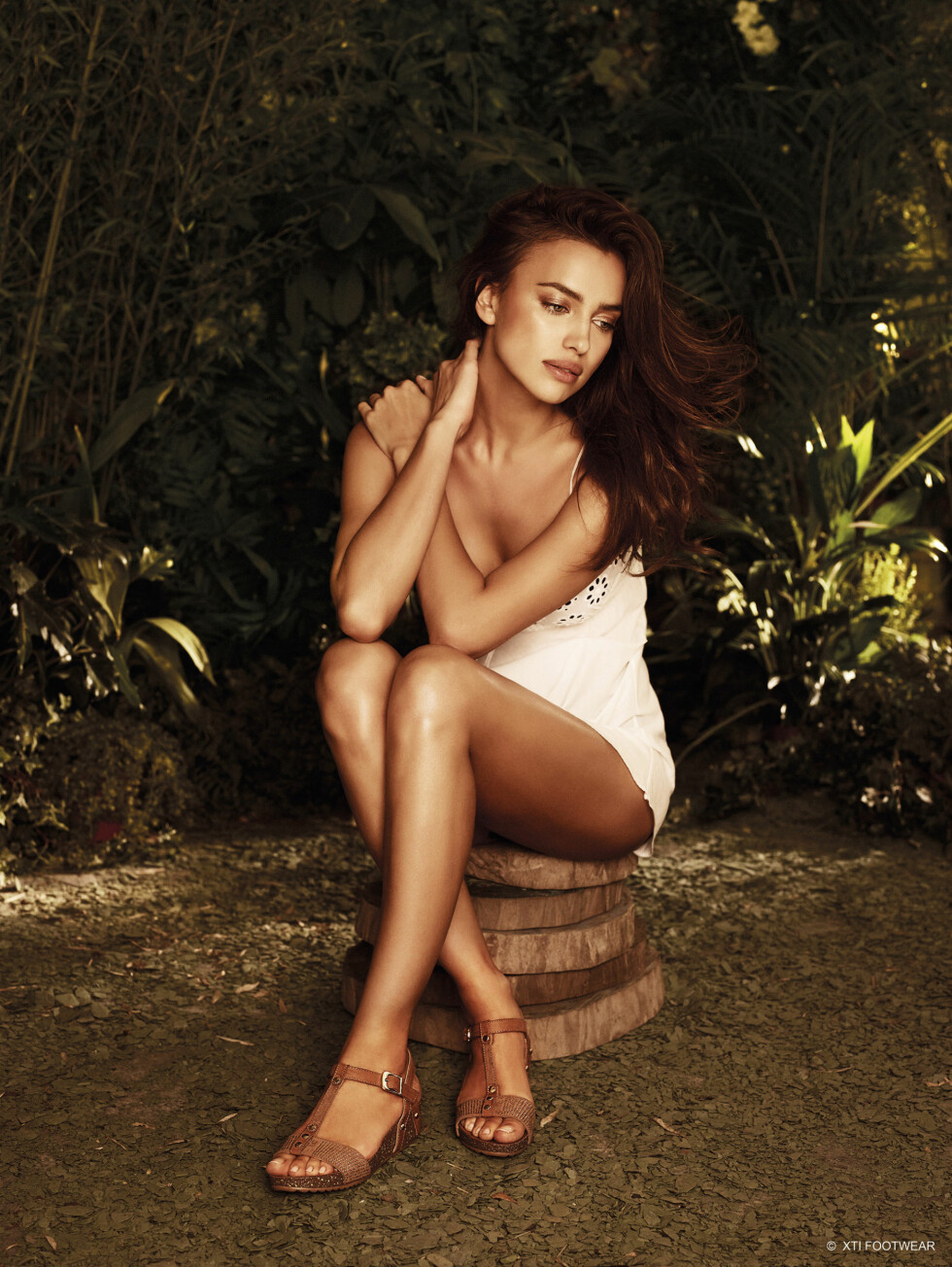 VAKKER: Irina ser naturlig og sexy ut på samme tid.  Foto: Stella Pictures