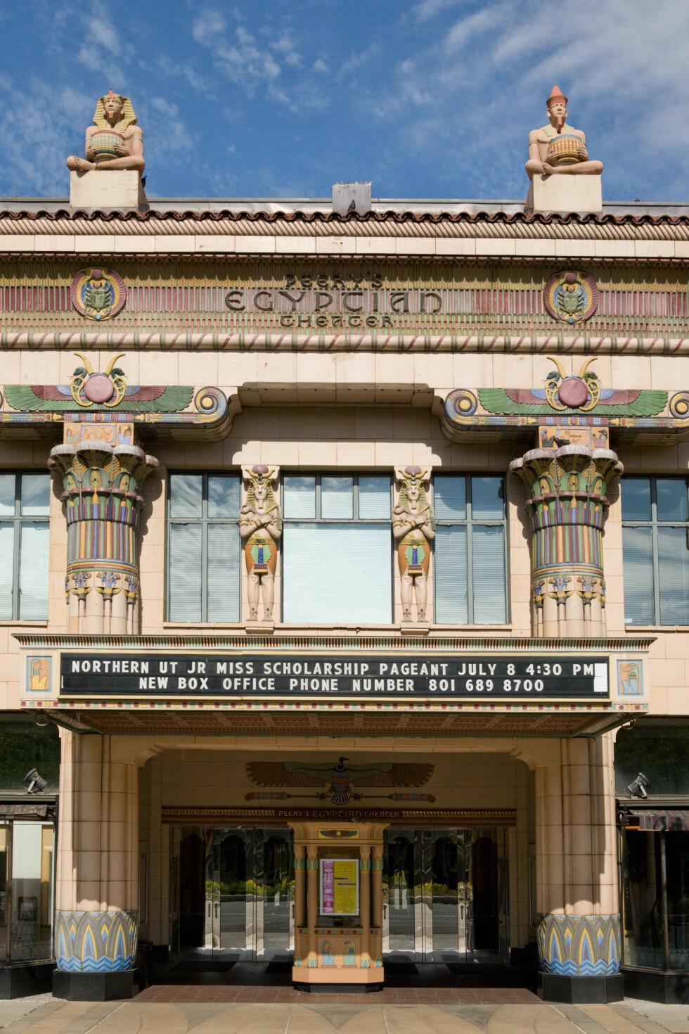 HISTORISKE DISTRIKTER: Peery's Egyptian Theater i Ogden, Utah.  Foto: Philip Scalia/Alamy/All Over Press