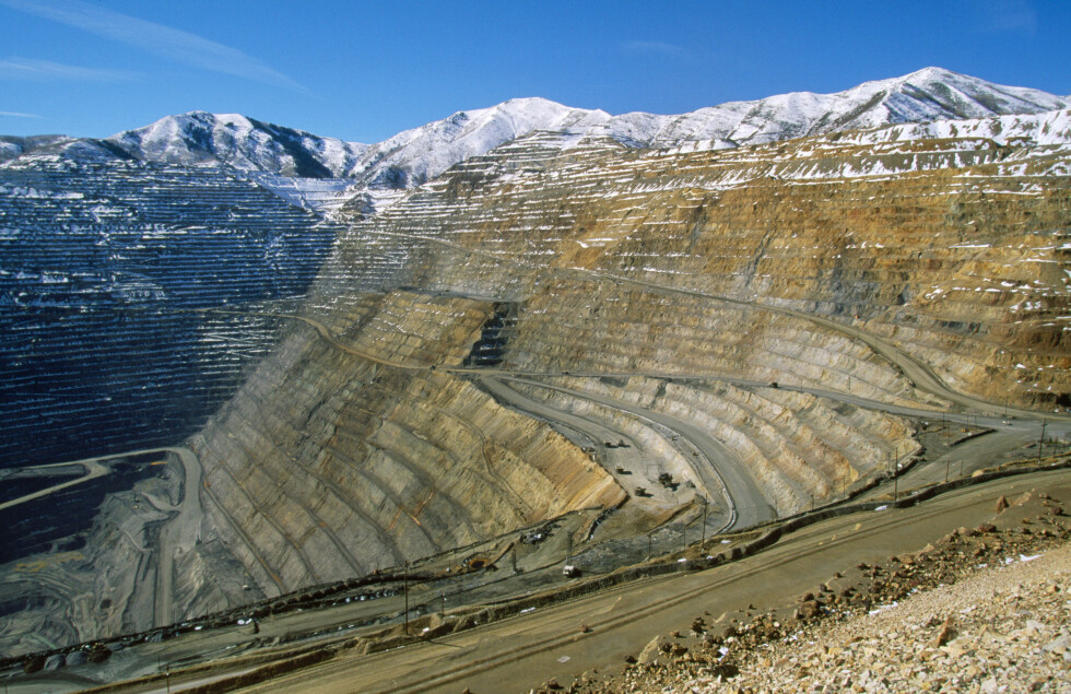 GAMMEL GRUVEBY: Den gamle koppergruven Binghmam Canyon ligger sørvest for Salt Lake City. Foto: Francois Gohier/ARDEA/Ardea/All Over Press