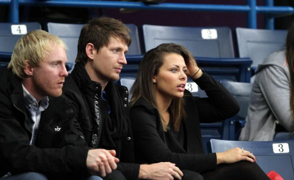 MED KJÆRESTEN: Mørk er sammen med Rosenborg-spiller Stefan Strandberg. Foto: All Over Press
