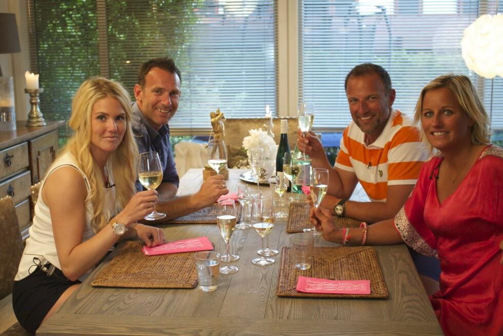 UKENS GJENG: Silje Norendal, Carsten Skjelbreid, Tom Stiansen og Vibeke Skofterud danner ukens tropp i 4-stjerners middag. Foto: TVNorge