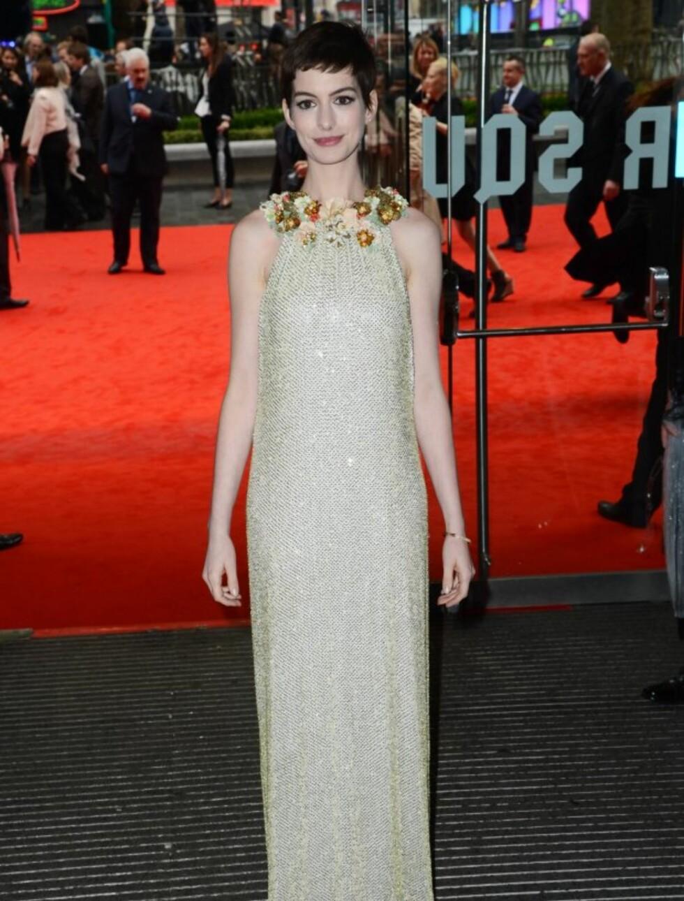 TYNN: Anne Hathaway gikk på ekstreme dietter da hun forberedte seg til Les Miserables.  Foto: All Over Press