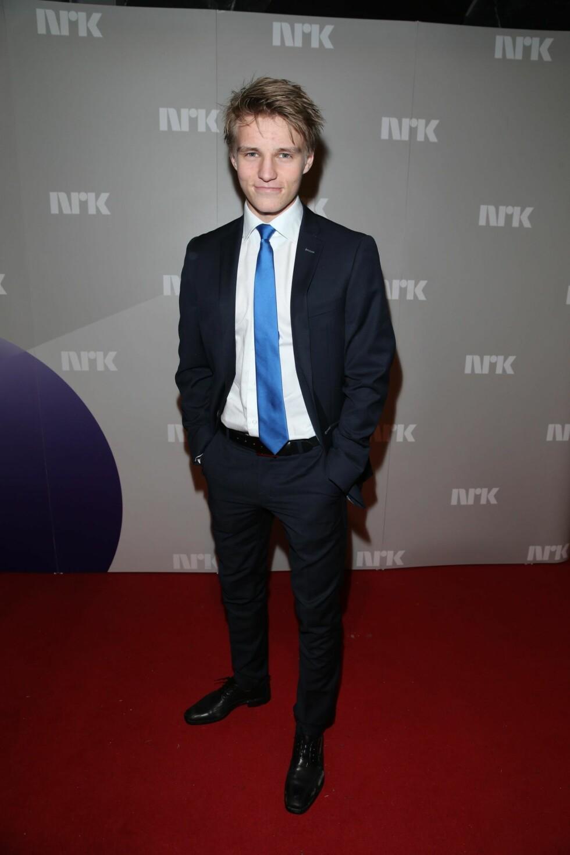 Stortalentet Martin Ødegaard kom fra Madrid til Idrettsgallen.  Foto: Andreas Fadum/Se og Hør