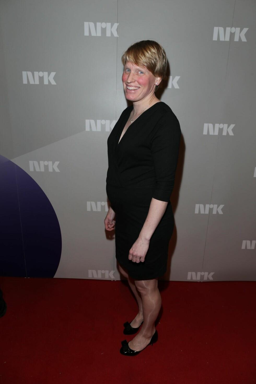 Tora Berger venter barn i april. Og viste fram magen på Idrettsgallen. Foto: Andreas Fadum/Se og Hør