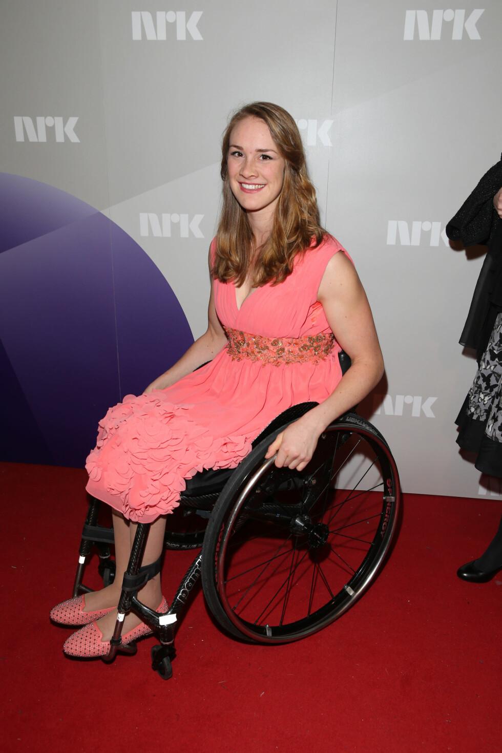 Birgit Skarstein fra Ingen Grenser og Paralympics på Idrettsgallaen. Foto: Andreas Fadum/Se og Hør