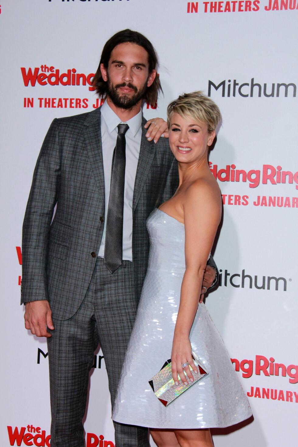 MORSOMT: Kaleys ektemann, Ryan Sweeting, filmet det hele og lo godt i bakgrunnen. Foto: All Over Press