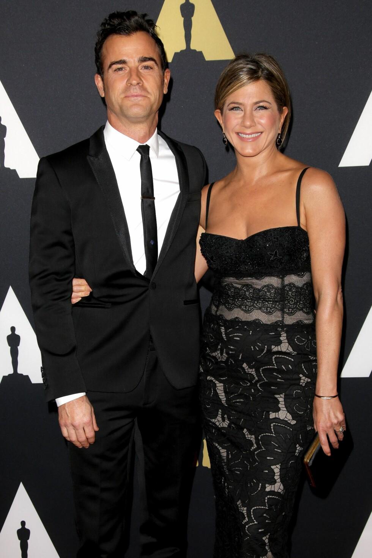 FORLOVET: Aniston er forlovet med Justin Theroux. Foto: All Over Press