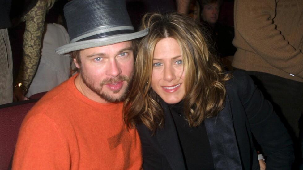 FEM ÅR: Brad Pitt og Jennifer Aniston var gift i fem år, før Brad fant lykken på filmsettet med Angelina Jolie. Foto: All Over Press