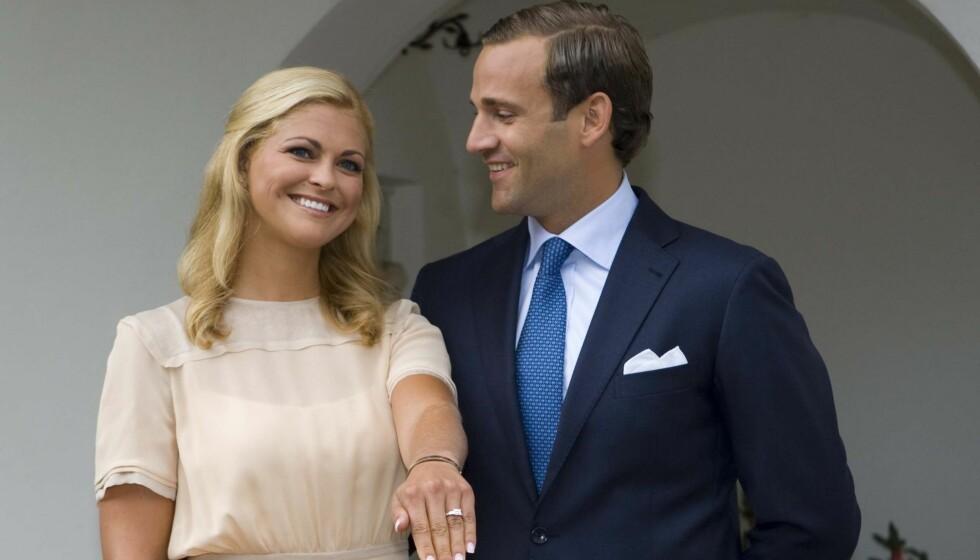 TØFT BRUDD: - Vi er så lykkelige. sa Madde og Jonas, da de offentliggjorde forlovelsen i august 2009. Åtte måneder senere ble forlovelsen brutt.  Foto: Stella Pictures