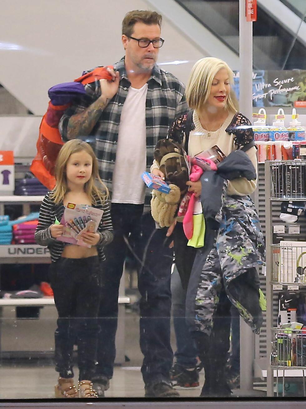SKAL DE SKILLES?: Det er tidligere hevdet at Tori allerede har fylt ut skilsmissepapirene, men verken hun eller Dean har bekreftet ryktene. Foto: Stella Pictures