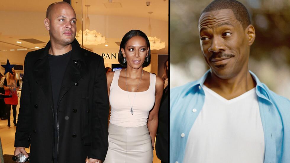 RINGTE EKSEN: Etter at Mel B brøt med Stephen Belafonte, ringte hun eksen Eddie Murphy (til høyre). Han skal ha gitt henne råd. Foto: All Over Press