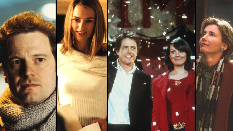 ENORM SUKSESS: Svært mange nordmenn benker seg foran TV-skjermene når Love Actually sendes i julen. I filmen spiller stjerner som Colin Firth, Keira Knightley, Hugh Grant, Martine McCutcheon og Emma Thompson. Foto: Filmweb