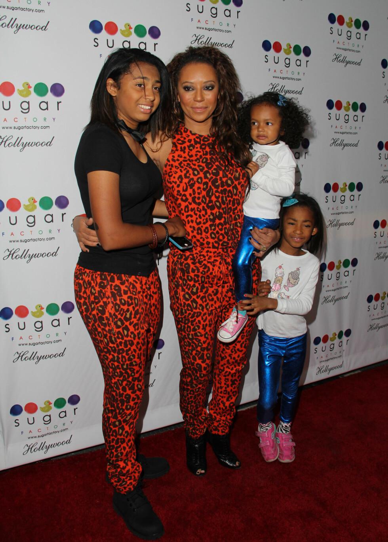 TRE BARN: Melanie har tre barn. Yngstedatteren Madison har hun med Stephen. Foto: All Over Press