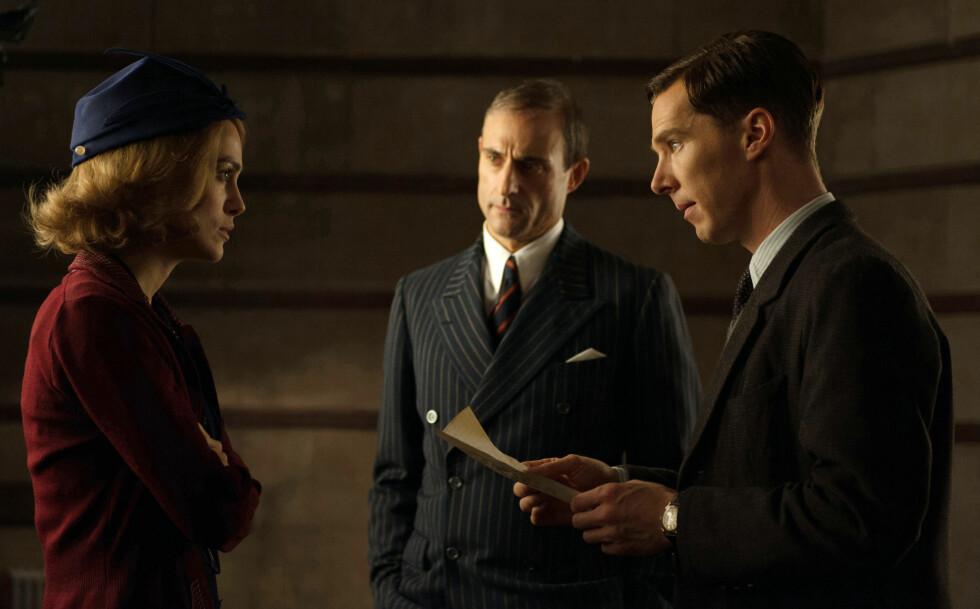 I NORSK-REGISSERT FILM: Knightley spiller blant annet mot Benedict Cumberbatch i The Imitation Game, som er regissert av norske Morten Tyldum. Foto: All Over Press