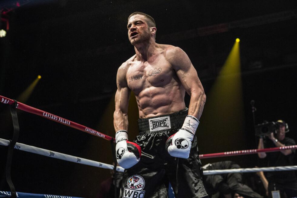BEINHARD: Jake Gyllenhaal har trent seg opp mer enn noensinne for å spille i boksefilmen «Southpaw». 33-åringen tilbragte timesvis på trening hver eneste dag.  Foto: Weinstein Company/Splash News/ All Over Press