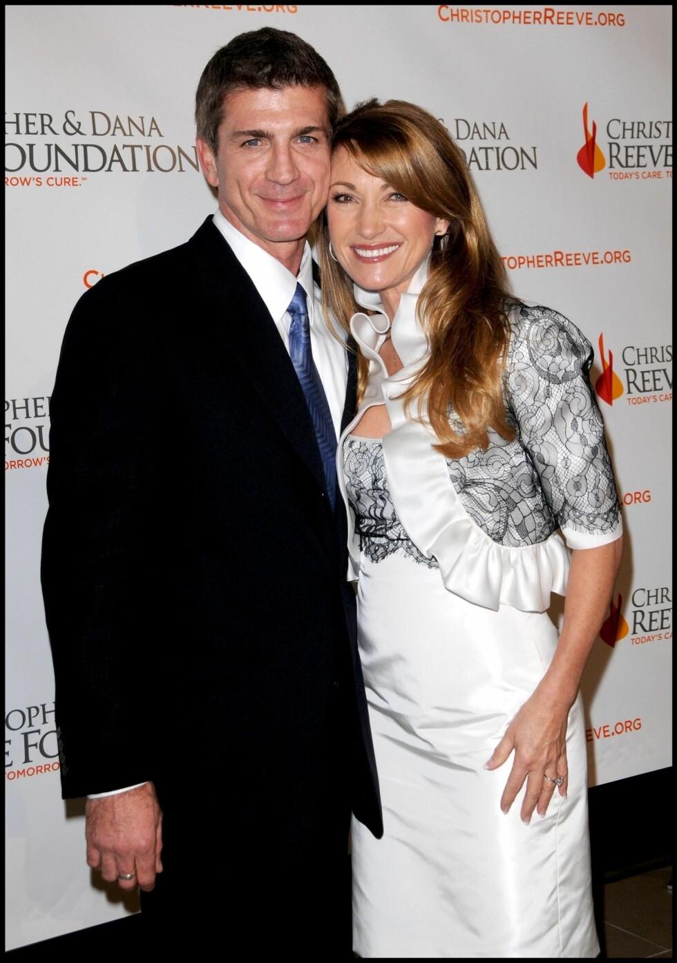 I 2008: Joe Lando og Jane Seymour ble også gjenforent på veldedighetsgallaen til Christopher & Dana Reeve Foundation på Beverly Hilton Hotel i desember 2008. Foto: Stella Pictures