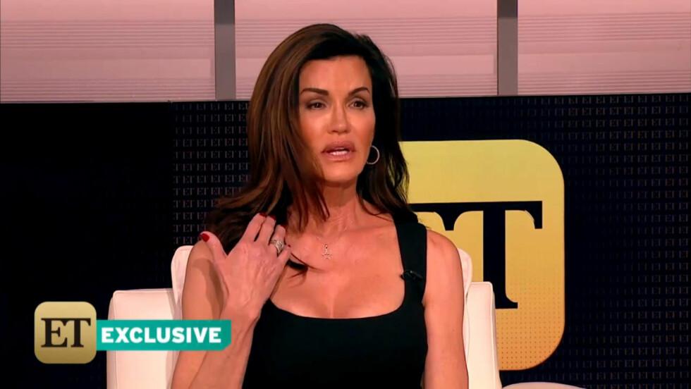 FORTALTE ALT: I et TV-intervju med «Entertainment Tonight» for et par uker siden, snakket Janice Dickinson om det seksuelle overgrepet Bill Cosby skal ha utsatt henne for i 1982. Foto: Stella Pictures