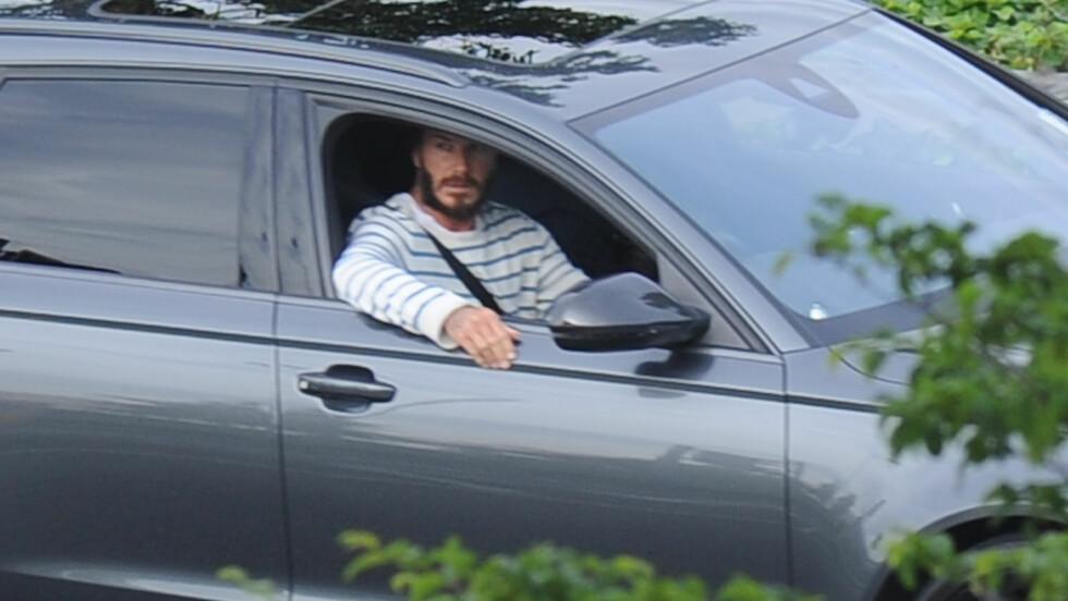 ØDELA BILEN: David Beckham skal ha kjørt denne Audien da han havnet i en bilulykke lørdag. Her er han avbildet i juni. Foto: Stella Pictures