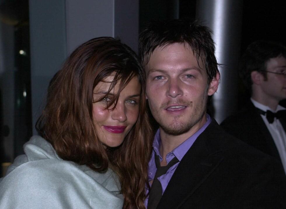 HOT PAR: Fra 1998 til 2003 var Reedus sammen med danske Helena Christensen. De samarbeider fremdeles tett om oppdragelsen til sønnen Mingus.  Foto: All Over Press