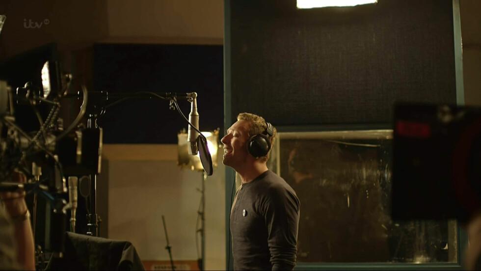 BAND AID: Chris Martin, kjent fra Coldplay, er en av artistene som bidrar i årets Band Aid-prosjekt. Foto: Stella Pictures