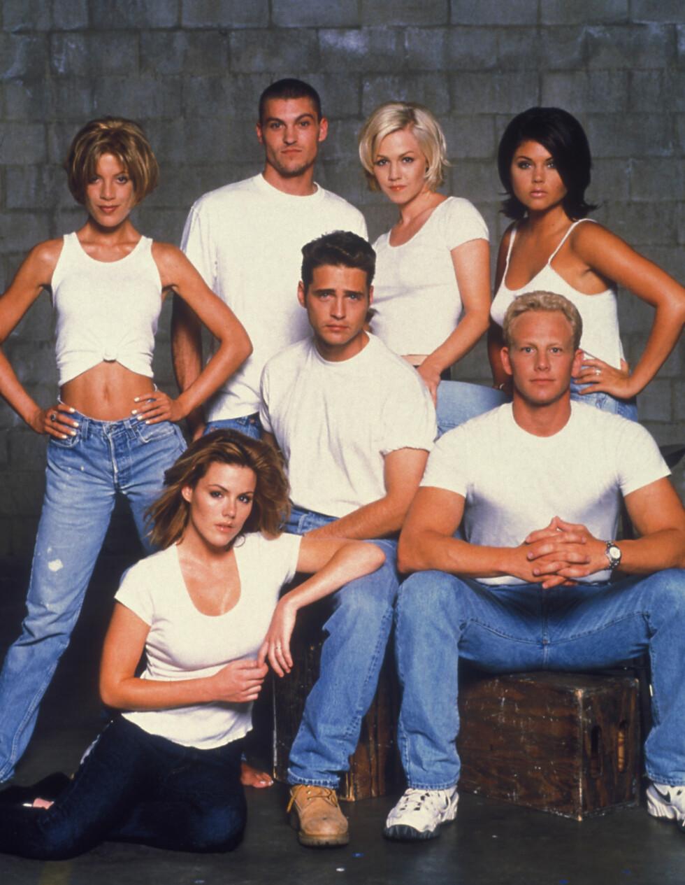 90-TALLS STJERNE: Tori Spelling fikk sitt gjennombrudd med rollen som Donna Martin i TV-serien «Beverly Hills 90210». Foto: All Over Press