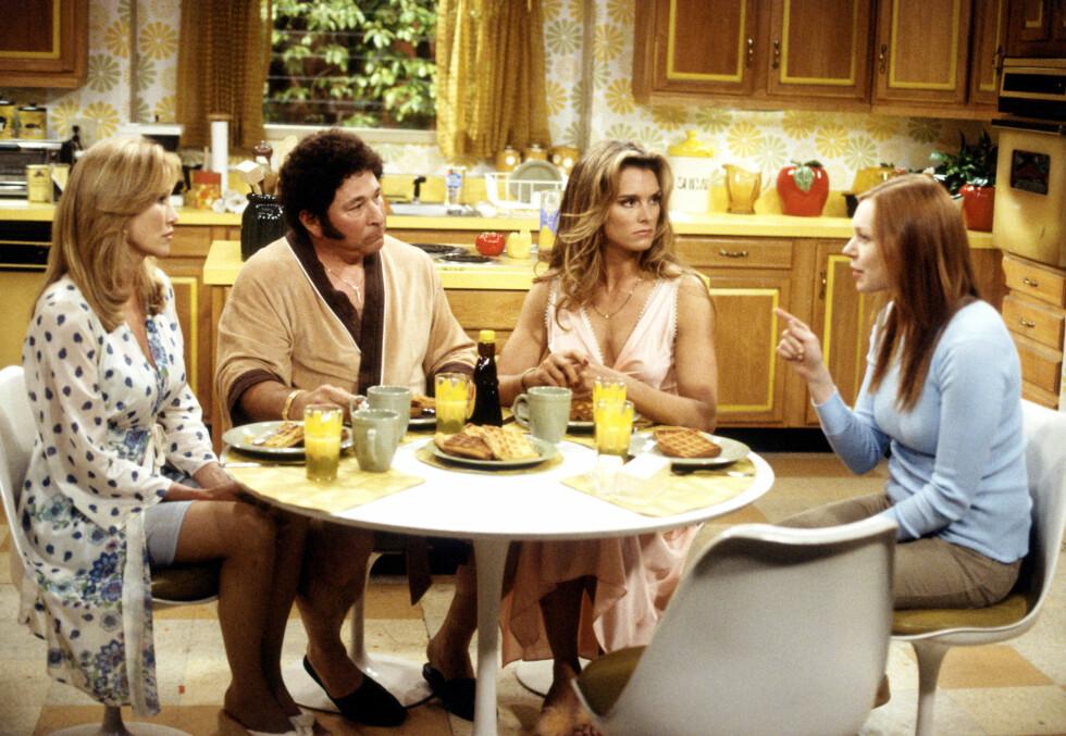 TV-STJERNE: Brooke Shields har spilt i en rekke filmer og TV-serier. Her er hun i en scene i TV 2-serien «Et 70-talls show». Foto: All Over Press