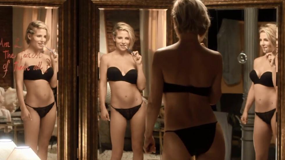 I TOPPFORM: Modellen og skuespilleren Elsa Pataky viser seg fra sin mest sexy side i sin nye undertøyskampanje - kun seks måneder etter at hun fødte tvillinger. Foto: Women's secret