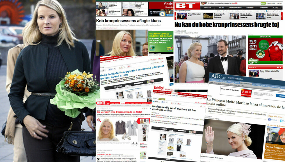 LOPPEMARKET VERDENS RUNDT: «Kronprinsesse Mette-Marit vil forhåpentligvis inspirere det danske og svenske kongehuset», skriver blant annet Billedbladet. Foto: Se og Hør/Faksimiler