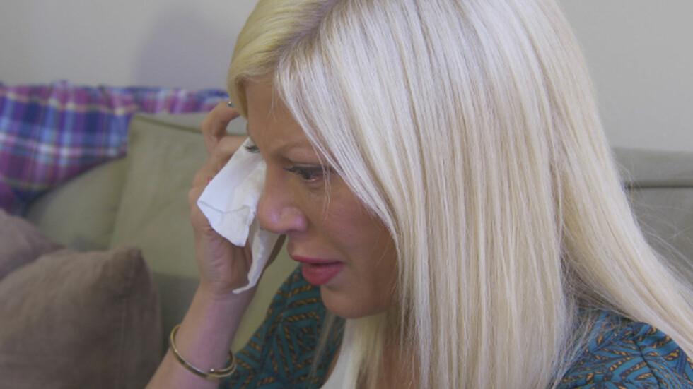 TÅREVÅTT MØTE: Tori Spelling ble konfrontert med sin egen fortid, da hun møtte eks-mannen Charlie Shanian realityserien «True Tori». Spelling var gift med Charlie da hun møtte sin nåværende ektemann Dean McDermott. Foto: All Over Press