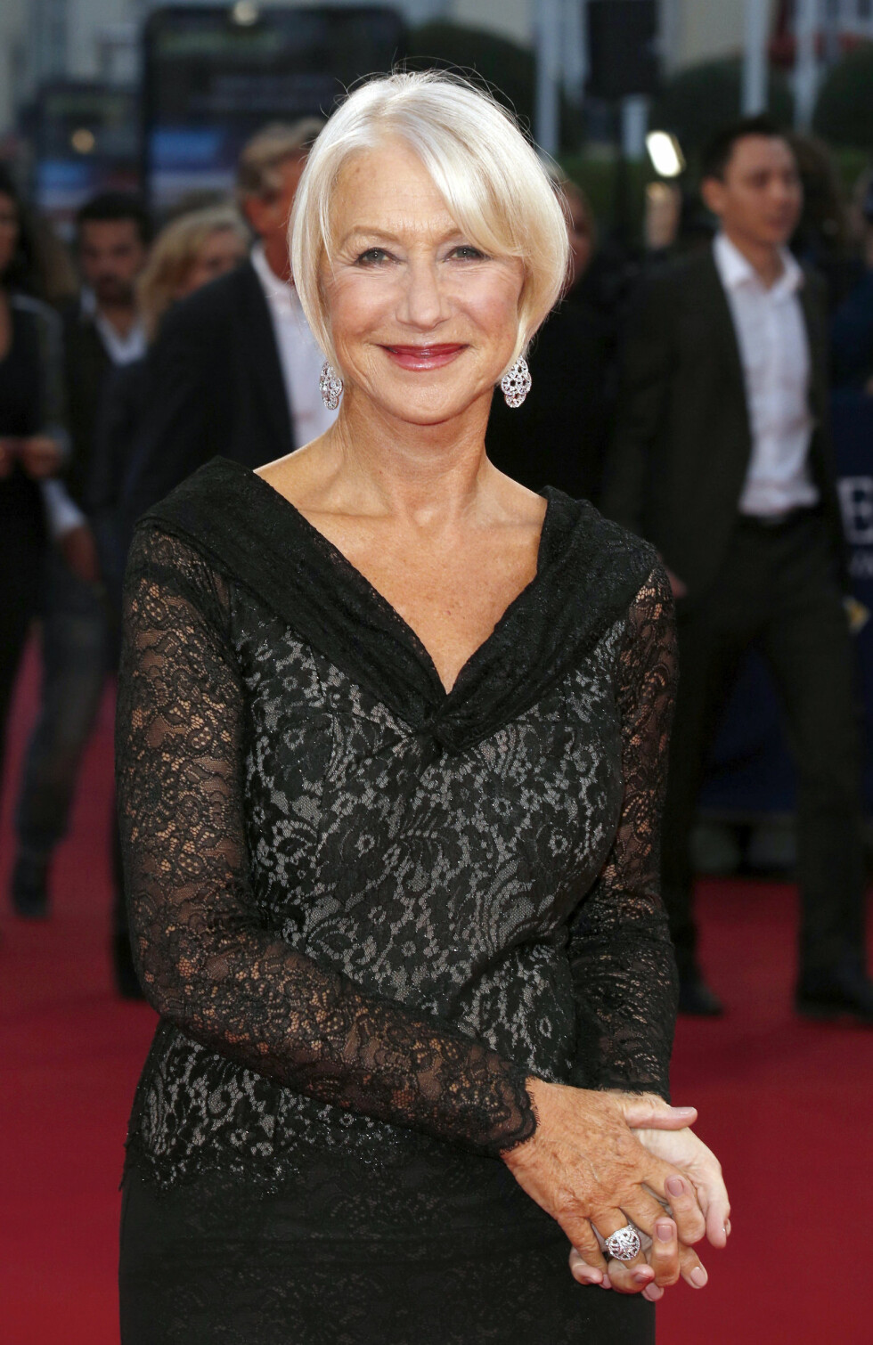 FLOTT: Helen Mirren skal bli modell for skjønnhetsgiganten L'Oreal. Foto: REX/Franck Leguet/All Over Press