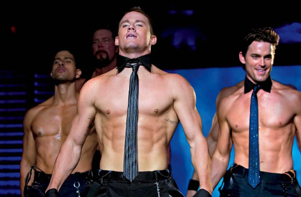 MUSKULØS: Channing Tatum har flere ganger kastet klærne i filmer - til kvinners store glede. Her fra dramakomedien Magic Mike. Foto: Stella Pictures