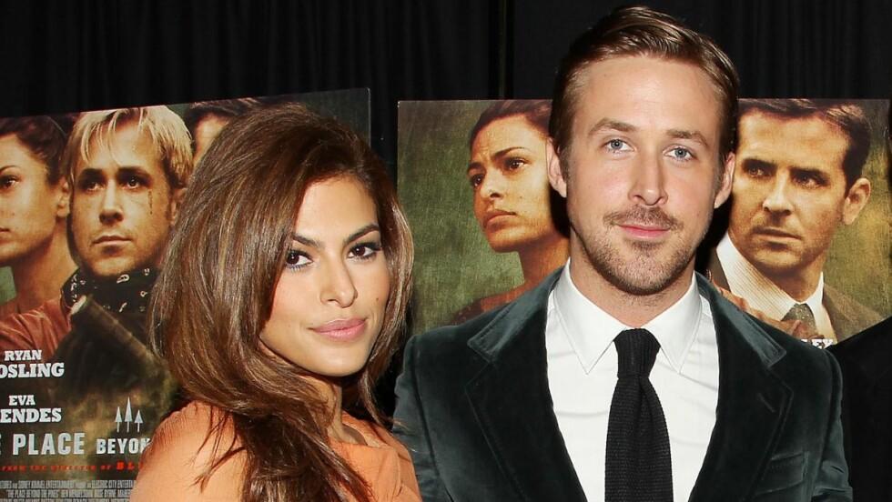STOLTE FORELDRE: Fredag 12. september fikk Hollywood-paret Eva Mendes og Ryan Gosling sitt første barn sammen. Foto: ALL OVER PRESS