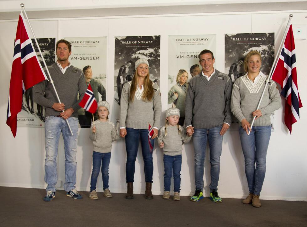 KLARE FOR VM: Chris Jespersen, Ingvild flugstad Østberg, Eldar Rønning og Astrid Uhrenholt Jacobsen var modeller. Foto: Oddvar Walle Jensen / Se og Hør