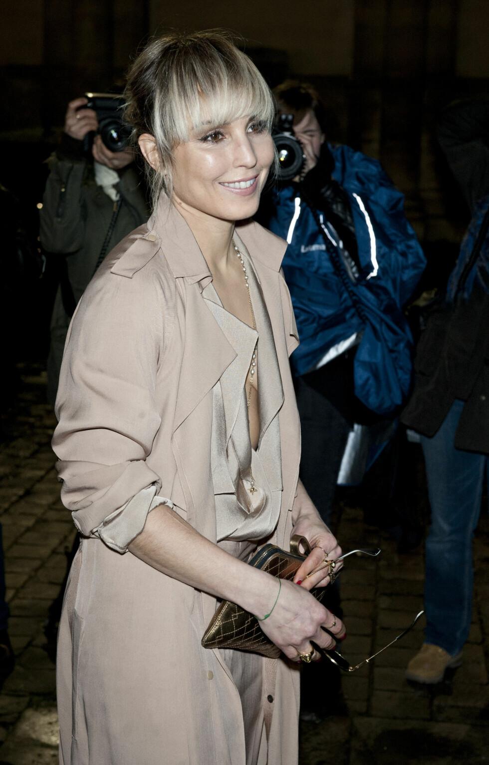 ELEGANT: Noomi var flott da hun ankom Lanvin-showet under Paris Fashion Week sist vinter. Foto: Stella Pictures