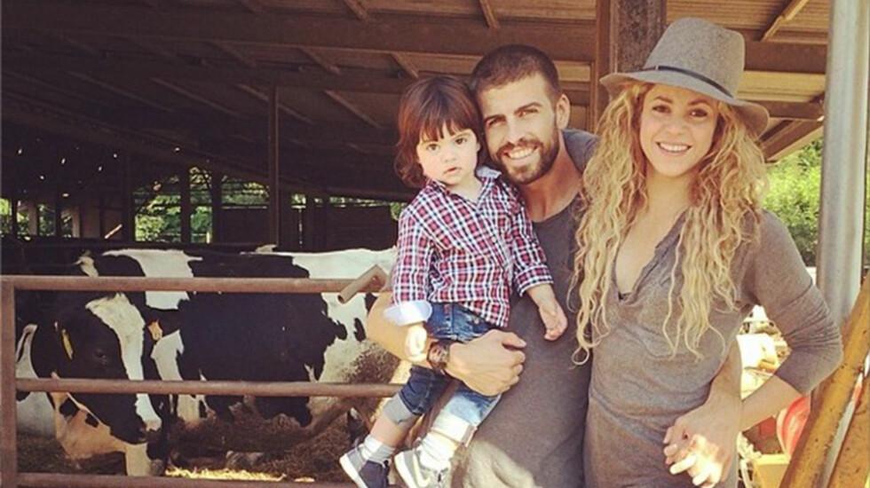 BABYLYKKE: Shakira og den spanske fotballproffen Gerard Piqué ser frem til å gi sønnen en lillebror. Foto: All Over Press